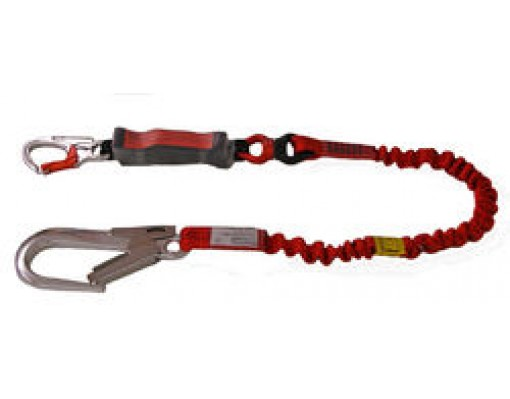 Euroline Lanyard stretch with energy absorber and RH 60 karabiner